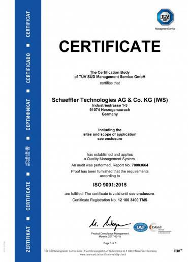 FAG CERTIFICADO ISO 9001: 2015