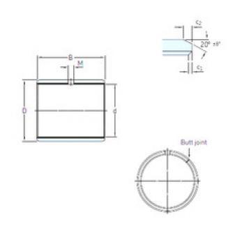 Rodamientos PCM 141620 E SKF